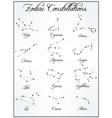 Set of zodiac constellations stars vector image