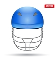 Blue Cricket Helmet Front View vector image
