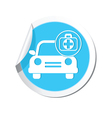 Cars first aid kit BLUE LABEL vector image