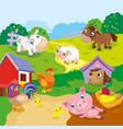 Cartoon Cute Farm Animals vector image