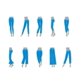 Cartoon Jeans Model for Women vector image