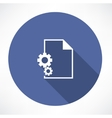 Document Settings Icon vector image