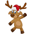 Happy Christmas cartoon deer vector image