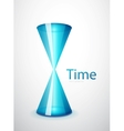 Hi-tech hourglass concept vector image