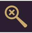 Magnifier Glass Search icons Set vector image