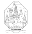 Original doodle style fairy castle vector image