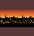 seamless band of the city at sunrise or sunset vector image