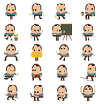 Set of businessman characters poses and animation vector image