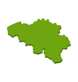 map of Belgium vector image