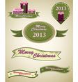 Christmas retro emblems vector image