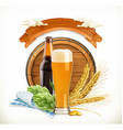 Beer Festival 3d logo vector image
