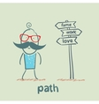 path vector image vector image