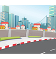 A city with tall buildings vector image