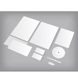 Set of CI templates mock-up with business cards vector image vector image