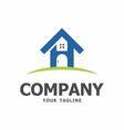 Home logo design by OriQ vector image