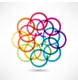 abstract multicolored circles icon vector image
