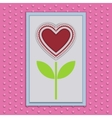Abstract Paper Flower with Heart vector image