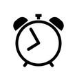 alarm clock icon in black vector image