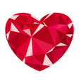 diamond heart icon vector image