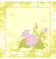 floral background ipomoea vector image