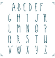 Hand drawn alphabet design vector image