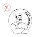Italian chef logo for restaurant Bellissimo Sign vector image