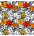 Leopard seamless pattern with hand drawn colorful vector image