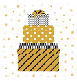 pile of colorful gift box vector image