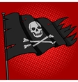 Pirate flag pop art style vector image