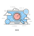 Seo search engine optimization content marketing vector image