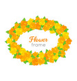 flower frame oval wreath of different blossoms vector image
