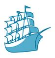 sea ship transport vector image