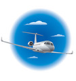 private air jet vector image vector image