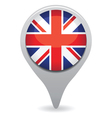 uk flag pointer vector image vector image