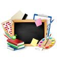 school blackboard background vector image vector image