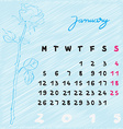 january 2015 flowers vector image vector image