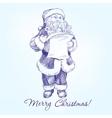 Santa Claus hand drawn llustration sketch vector image