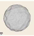 3d Sphere Abstract Geometric Object vector image