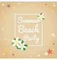 Summer beach party hello summer background vector image