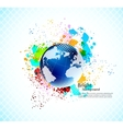 Background with globe vector image