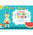 Birthday Card Invitation Summer Fun Splash vector image