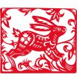 Chinese zodiac of rabbit year vector image