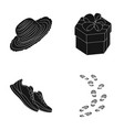 clothing gift and other web icon in black style vector image