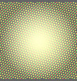 Halftone pattern background round spot shapes vector image