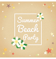 Summer beach party hello summer background vector image
