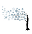 tree in the wind vector image