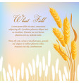 wheat field agricultural concept vector image