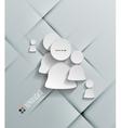 white sticker user icon vector image