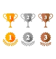 Trophy Cup and Award Medals Icons vector image