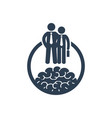 career development icon with businessmen vector image